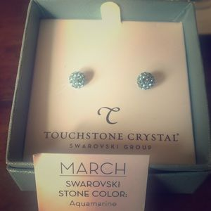 Touchstone by Swarovski aquamarine earrings